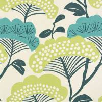 Tree Tops Fabric - Teal/Linden