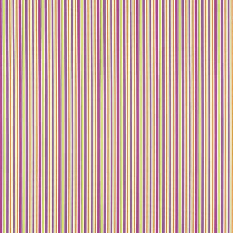 OUTLET SALES Morris / Sanderson Exclusive Clearance! Candy Stripe Fabric - Magenta/Linden - 232310C