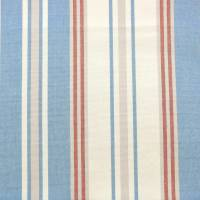 Hopwell Stripe Fabric - Blue/Red