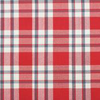 Talla Check Fabric - Red/Navy