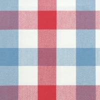 Kali Check Fabric - Red/Blue