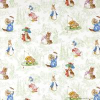 The Tales of Beatrix Potter Fabric - Green