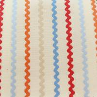 Ric Rac Fabric - Red/Blue