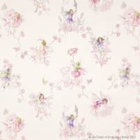 Meadow Flower Fairies Fabric - Cream