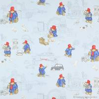 London Paddington Fabric - Pale Blue