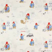 London Paddington Fabric - Vintage Red/Blue