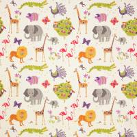 Wild Things Fabric - Red/Green