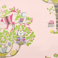Into the Woods Fabric - Pink