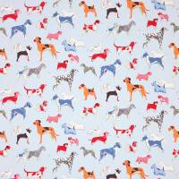 Hot Dogs Fabric - Blue