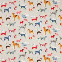 Hot Dogs Fabric - Grey