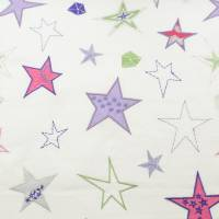 Shooting Stars Fabric - Pink/Green