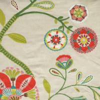 Carimbo Fabric - Red/Green