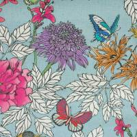 Tamarinda Fabric - Blue/Cream