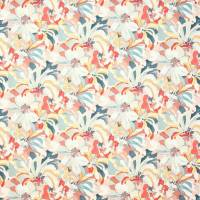 Hot House Fabric - Red/Aqua