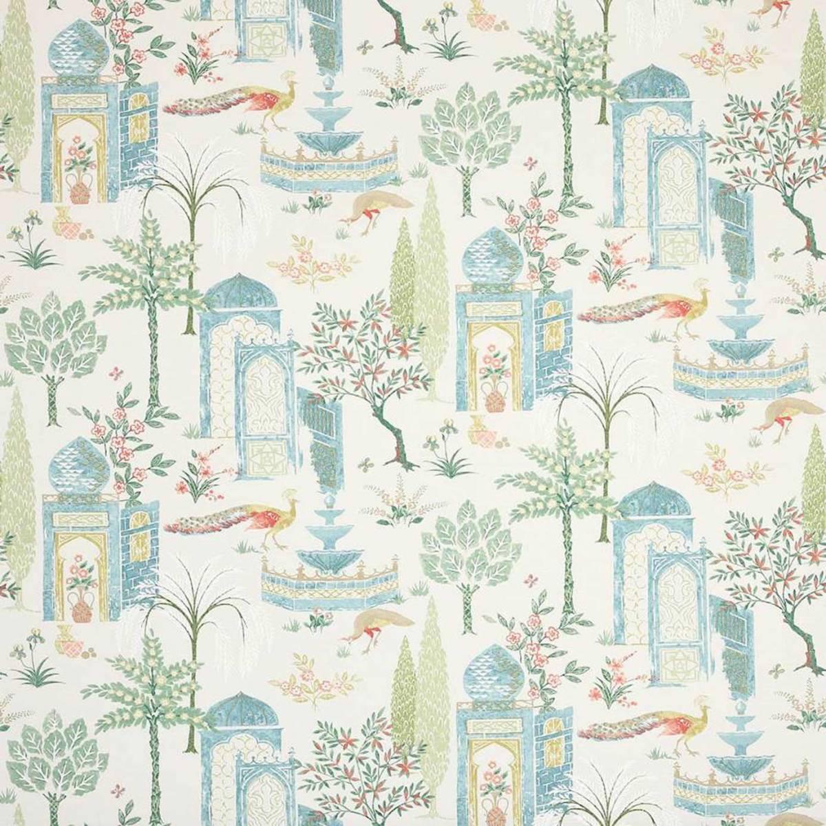 Persian Grove Fabric Teal Aqua J979f 03 Jane