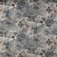 Marble Rose Fabric - White/Grey