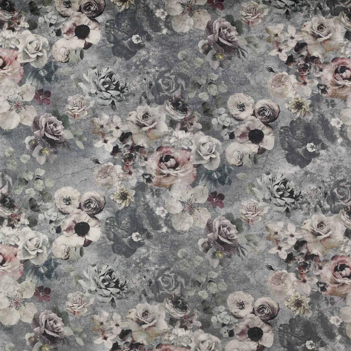 Marble Rose Fabric White Grey J0053 02 Jane