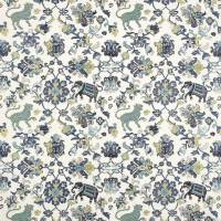 Animal Tapestry Fabric - Blue