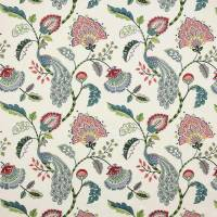 Jaipur Peacock Fabric - Multi