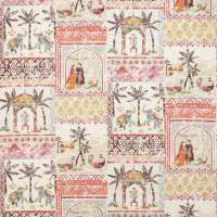 Kashmir Garden Fabric - Red/Orange