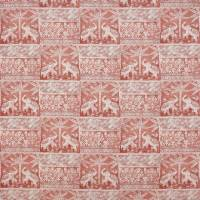 Elephant Parade Fabric - Pale Red