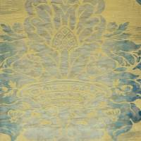 Seymour Damask Fabric - Aqua