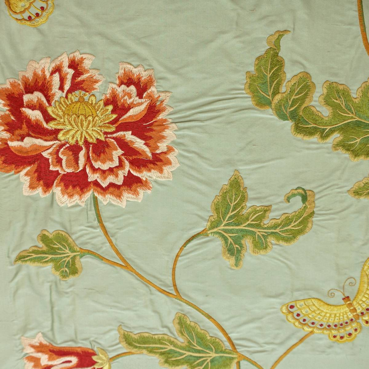 Oriental Poppy Fabric Aqua F3302 03 Colefax Amp Fowler