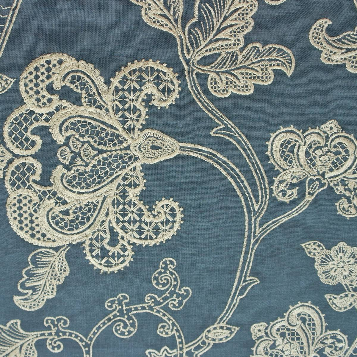 Lace Tree Fabric Blue F4110 04 Colefax Amp Fowler