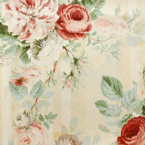 Jubilee Rose Fabric Pink Green F1313 01 Colefax