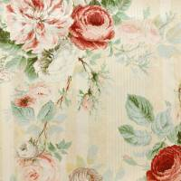 Jubilee Rose Fabric - Pink/Green