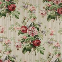 Jubilee Rose Fabric - Red/Green
