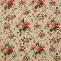 Amberley Fabric - Pink/Green
