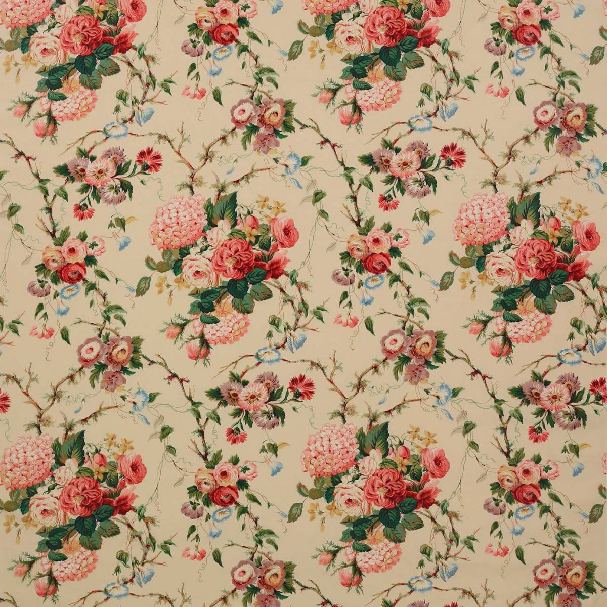 amberley fabric pink green f1707 02 colefax fowler classic prints fabrics collection. Black Bedroom Furniture Sets. Home Design Ideas