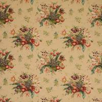 Alicia Linen Fabric - Pink/Sand