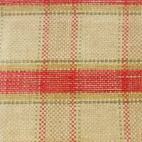 Malin Check Fabric - Red