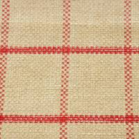 Larne Check Fabric - Red