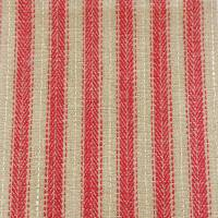 Wicklow Stripe Fabric - Red