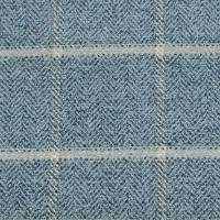 Linsmore Check Fabric - Navy