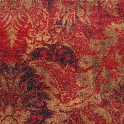 Colefax & Fowler  Otto Velvets Fabrics Mariano Fabric - Red - F4241/02