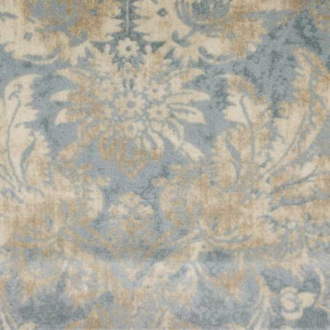 Colefax & Fowler  Otto Velvets Fabrics Mariano Fabric - Old Blue - F4241/03
