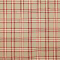 Malone Check Fabric - Tomato