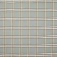 Malone Check Fabric - Old Blue