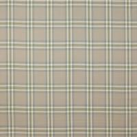 Malone Check Fabric - Aqua/Leaf