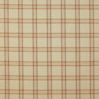 Edgar Check Fabric - Terracotta