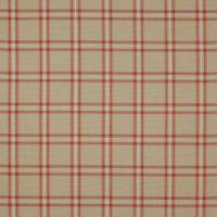 Edgar Check Fabric - Red