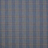 Edgar Check Fabric - Navy