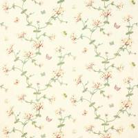 Honeysuckle Garden Fabric - Pink/Green