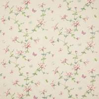 Honeysuckle Garden Fabric - Red/Green