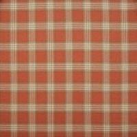 Lowick Plaid Fabric - Terracotta