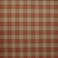 Lowick Plaid Fabric - Tomato / Green
